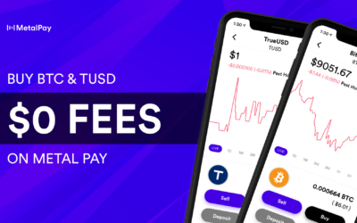 Buy Bitcoin and TUSD for 0% Fees on Metal Pay