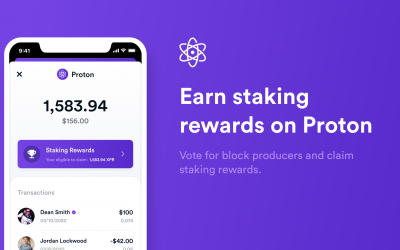 Demonstration of on-chain staking and voting with the Proton Wallet