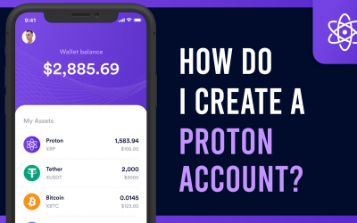 How do I create a Proton account on the Proton Wallet?