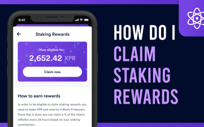 How do I claim staking rewards in the Proton Wallet?